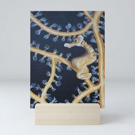 Yellow Sea Horse Mini Art Print