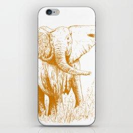 Elephant caramel iPhone Skin