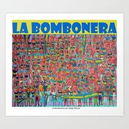 La bombonera por Diego Manuel  Art Print