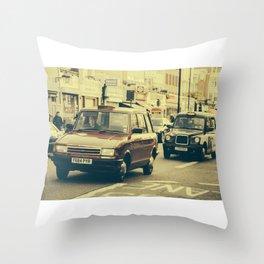 London Taxis Throw Pillow