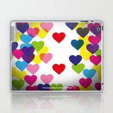 I feel your whisper across the crowd. Laptop & iPad Skin