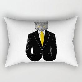 Cat in Suit Rectangular Pillow
