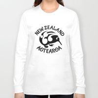 new zealand Long Sleeve T-shirts featuring KIWI Aotearoa | New Zealand by mailboxdisco