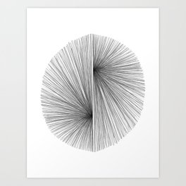 Mid Century Modern Geometric Abstract Radiating Lines Art Print