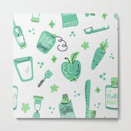 Green oral care Metal Print