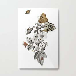 Insect Toile Metal Print
