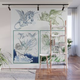 Dueling Wizards Wall Mural