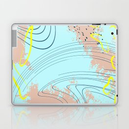 Beige blue splash Laptop & iPad Skin