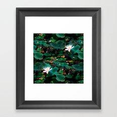 Lotus - A Pattern Framed Art Print