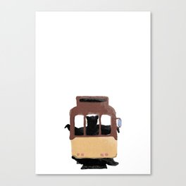 tram taker bear Canvas Print