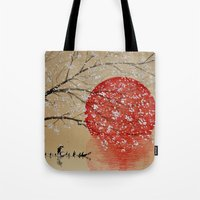 japan Tote Bags featuring Japan by Japan Art