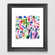 colorful plants Framed Art Print