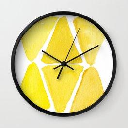 Sunny Triangles Wall Clock