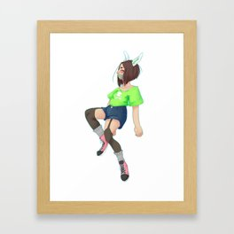 Floating girl Framed Art Print