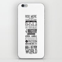 motivational iPhone & iPod Skins featuring Lab No. 4 - Robin Sharma Motivational Quotes Poster by Lab No. 4