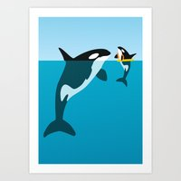 orca Art Prints featuring Orca by WyattDesign