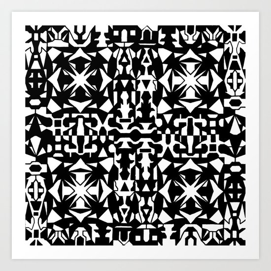 Black and White Square 2 Art Print