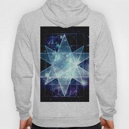Galaxy Sacred Geometry : Stellated Icoshadron Blue Hoody