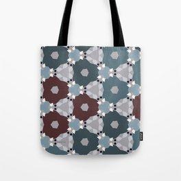 Kaleidoscope Flowers Winternight Tote Bag
