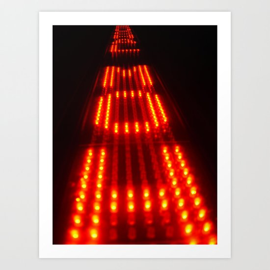 Enter the Void Red Art Print