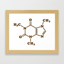 Caffeine Molecular Chemical Formula Framed Art Print