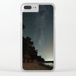 Milky way landscape at the coast of 'Colonia, Uruguay' Clear iPhone Case