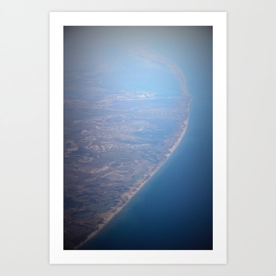 blue earth Art Print