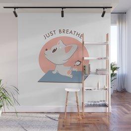 Yoga Kawaii Dog Wall Mural