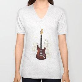 Guitar electro Unisex V-Neck