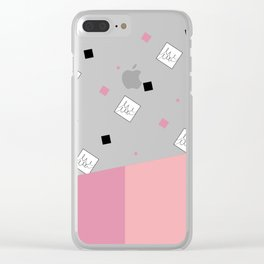 Spring Fashion Pattern #cute #blush #kirovair #pattern #pink #coral #home #decor Clear iPhone Case