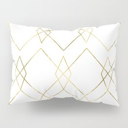 Gold Geometric Pillow Sham