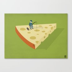 Slice fishing Canvas Print