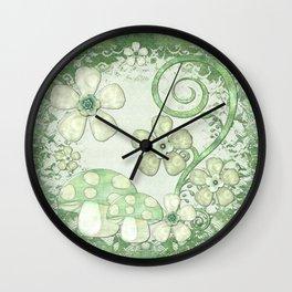 Chantily Whimsical Mixed Media Wall Clock
