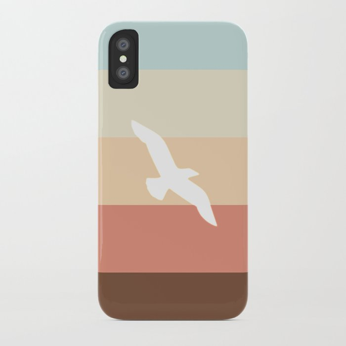Out At Sea Series - Sun, Sand and Seagulls iPhone Case