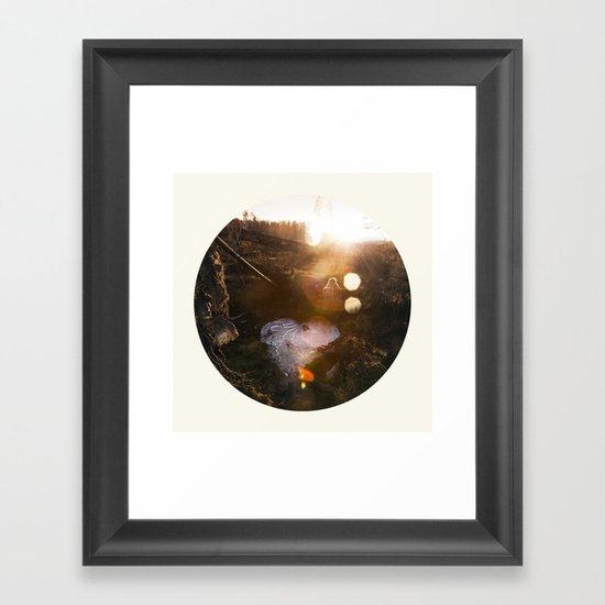 Frozen Puddle Framed Art Print