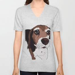 Beagle Dog Unisex V-Neck