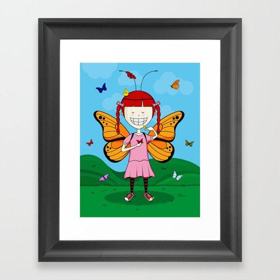 i heart butterflies Framed Art Print