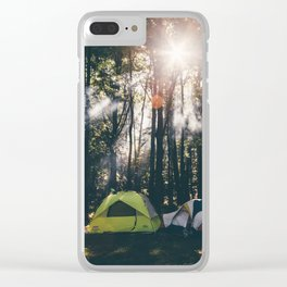Camp Vibes & Sunshine Clear iPhone Case