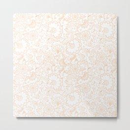 Fly EYES - Patterns ORANGE - flowers, floral Metal Print