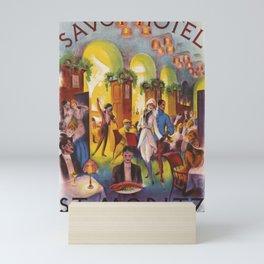 Advertisement Savoy Hotel St Moritz Mini Art Print