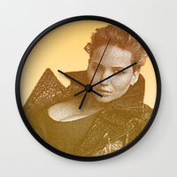 law Wall Clocks featuring J. LAW. by Hands in the Sky