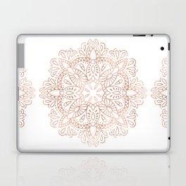 Mandala Rose Gold Pink Shimmer by Nature Magick Laptop & iPad Skin