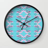 orchid Wall Clocks featuring Orchid by Nahal