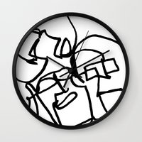 faces Wall Clocks featuring Faces by Kenneth