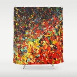 END OF THE RAINBOW - Bold Multicolor Abstract Colorful Nature Inspired Sunrise Sunset Ocean Theme Shower Curtain