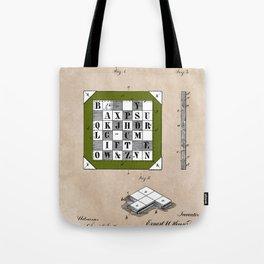 patent Kinsey Puzzle Blocks 1878 Tote Bag