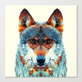 Wolf - Colorful Animals Canvas Print