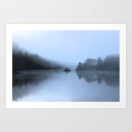 Reflections at Loch Affric Art Print