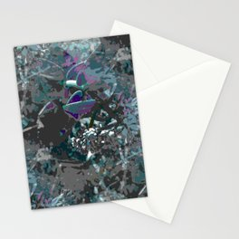 Forest first frost floral camouflage Stationery Cards