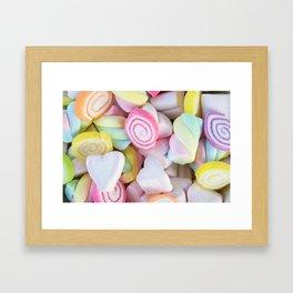 Pastel Rainbow Candy Framed Art Print